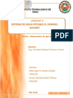 SISTEMA DE AGUA POTABLE EL VENADO NAYARIT