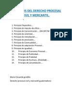 PRINCIPIOS DEL DERECHO PROCESAL CIVIL Y MERCANTIL