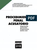 Procedimiento Penal Acusatorio Imputacion Acusacion Preparatoria Juicio Oral - Nelson Saray Botero