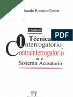 TECNICAS DE INTERROGATORIO Y CONTRAINTERROGATORIO EN EL SISTEMA ACUSATORIO
