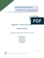 Rapporto Influnet Virologico 2021-08