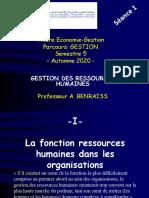 Séance 1 La Fonction Ressources Humaines (1ère Partie)