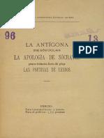 La Antigona de Sofocles La Apologia de Socrates Las Poetisas de Lesbos 1048355