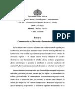 Ensayo - Comunicación y Educación a Distancia