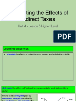 unit 4 - lesson 3 - calculating the effects of indirect taxes