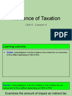 unit 4 - lesson 4 - incidence of taxation