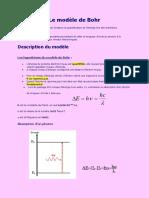 CHAPITRE 2 le modèle de Bohr