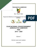 PNIA_2014_2020_Cameroun_Dernier_draft_AVRIL_2014