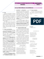 Caderno 4 - Objetivo - Português  - Terceiro ano - 4 Bimestre