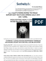 English_Sotheby's HK Spring 2011 Important Watches