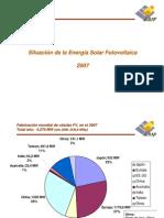 Situacion de la energia fotovoltaica 2007 España