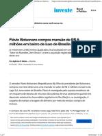 Flávio Bolsonaro compra mansão de R$ 6 milhões em bairro de luxo de Brasília   Brasil e Política   Valor Investe