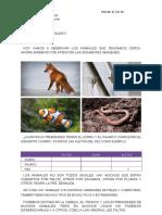 Ciencias naturales animales  NOVIEMBRE