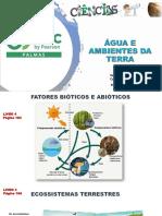 Aula 21 - Livro 4 -  Cap 11, 6º - Ecossistemas Terrestres e Aquáticos
