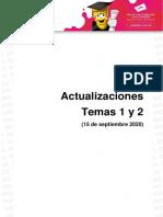 Actualizaciones temas 1 y 2