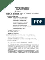 Ensayo De Extracción Del Cemento Asfaltico En Mezclas Asfálticas - ACTIVIDADES INTRA - CLASE COLABORATIVAS 03