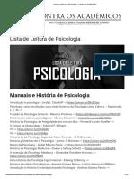 9 Lista de Leitura de Psicologia