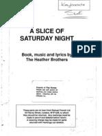 A Slice of Saturday Night - Complete Score