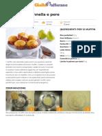 Muffin riso cannella e pere