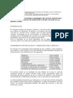 1. Fundamentación psicológica y pedagógica del currículo.