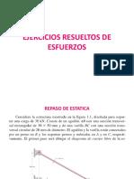 EJERCICIOS RESUELTOS DE ESFUERZOS. CAPITULO 1 ESFUERZOS