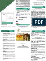 Boletim Dominical - 24 de janeiro de 2021