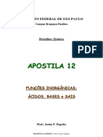APOSTILA 12 - Ácidos, Bases e Sais