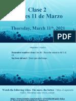 1°_Clase 2_Inglés_Jueves 11 de marzo