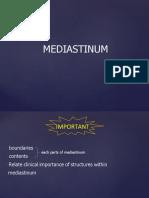 Mediastinum Great Vessels
