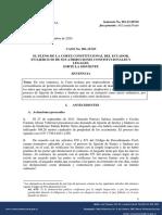 Sentencia No. 981-15-EP-20