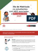 CARTILLA DE MATRÍCULA PARA ESTUDIANTES CON NEE ASOCIADAS A DISCAPACIDAD