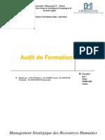 Audit de Formation