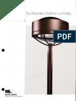 QL Design 130 Post Top Area Lighting Brochure 1988