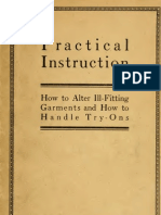 Practical Instruction - How to Alter Ill-Fitting Garments and How to Handle Try-Ons