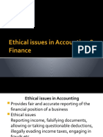 ethical-issues in accont & finance