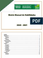 Matriz Bianual de Habilidades 2020- 2021 Ensino Fundamental - 1º Corte