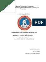 Importancia E covid-19