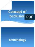 Occlusion concepts in dentistry