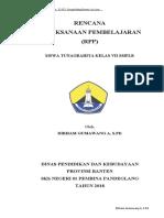RPP Kelas 7 Tema 2 Sub Tema 2 SMPLB Tuna