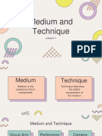 Lesson 1 Medium and Technique