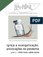 2212 - Igreja e evangelização, provocações da pandemia, Parte 3
