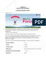 LESSON NOTE ABOUT FORCE