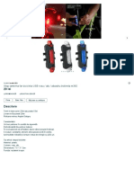 Stop lanterna far bicicleta USB rosu _ alb _ albastru trotineta