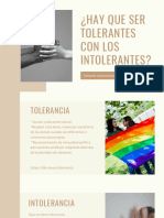 ¿Hay Que Ser Tolerante Con Los Intolerantes