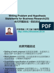Writing Problem and Hypothesis Statements for Business Research(23)