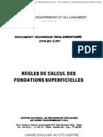 BC 2.33.1 REGLES DE CALCUL DES FOND SUPERFICIELLES