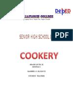 MODULE 1 cookery