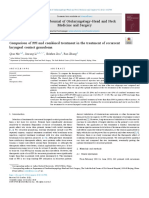 Comparison of PPI and combined treatment in the treatment of recurrent laryngeal contact granuloma