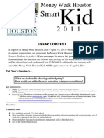 Money Week Houston 2011-Smart Kids Essay Contest[1]