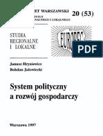 53. System Polityczny a Rozwj Gospodarczy